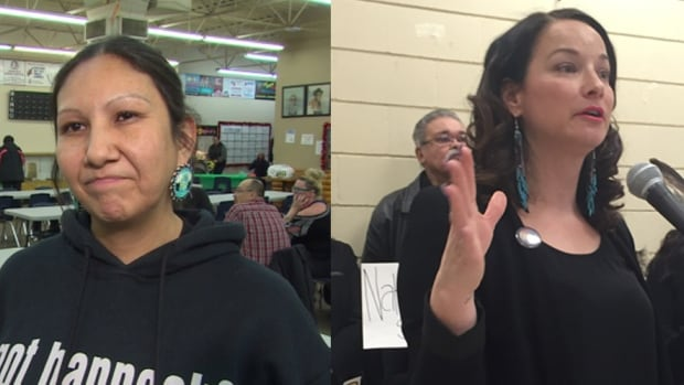 Althea Guiboche, left, is running for the Manitoba Liberal Party in Point Douglas. Nahanni Fontaine is running for the New Democratic Party nomination in the St. Johns constituency.