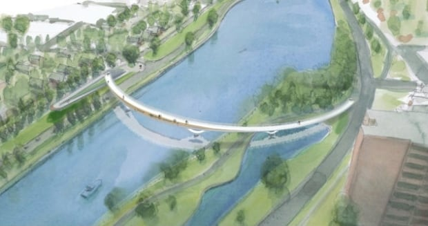 fifth clegg pedestrian bridge earlier design
