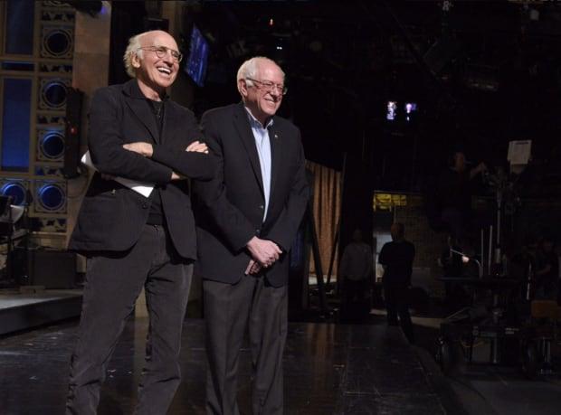 Larry David with Bernie Sanders on SNL feb 6, 2016