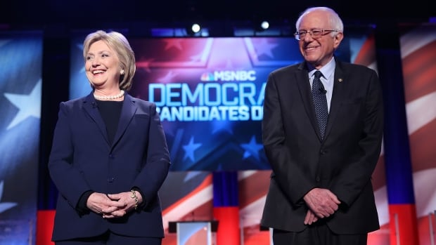 Former Secretary of State Hillary Clinton, left, is still seen by some as the frontrunner in the Democratic primary, but Senator Bernie Sanders is surging by bringing party back to its progressive roots.