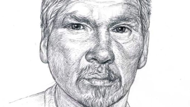 A sketch of Frank Paul is shown from The Davies Commission of Inquiry into the death of Frank Paul.