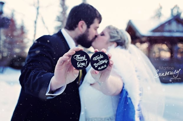 Brittany and Wade Peterson  hockey wedding