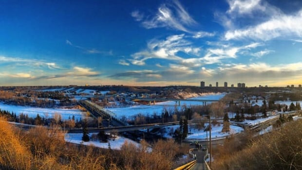 Horizon lines: Edmonton's river valley is expected to get a fresh dusting of snow.