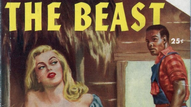 How Sleeps The Beast, a Don Tracy paperback about a romance between a white woman and a black man, is among the hateful objects in the Jim Crow Museum.
