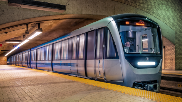 The STM's new AZUR cars are being built by the Bombardier-Alstom consortium.