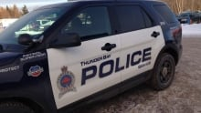 Thunder Bay Police cruiser winter