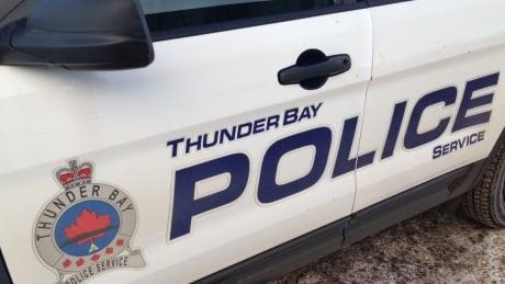 Thunder Bay police cruiser door with name & logo