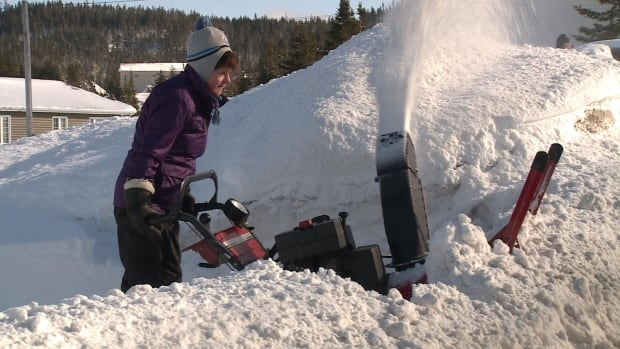 Corner Brook snowstorm snowblower
