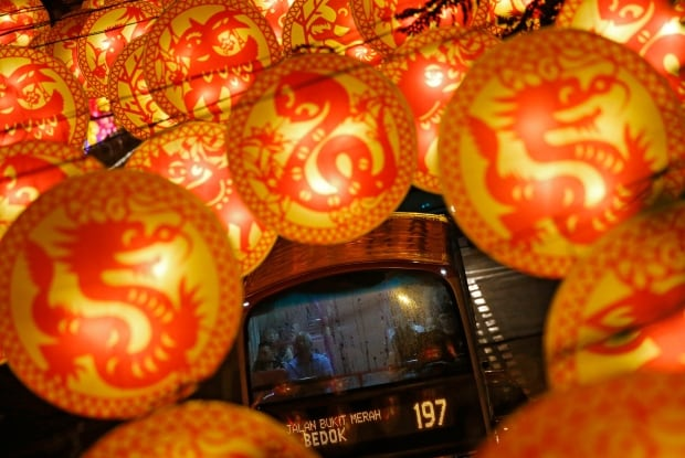 LUNAR-NEW YEAR lanterns in Singapore Feb 5 2016