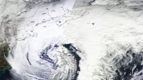 Winter storm over Nova Scotia, February 8, 2016