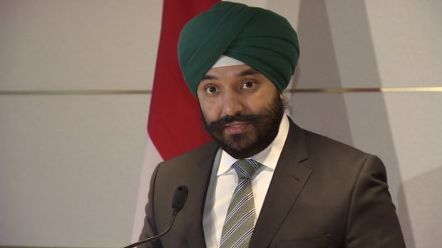 Navdeep Bains, federal cabinet minister responsible for the Atlantic Canada Opportunities Agency, announced $2.7M in funding for seven Nova Scotia firms Monday in Halifax.