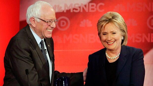 DEM 2016 Debate Sanders Clinton