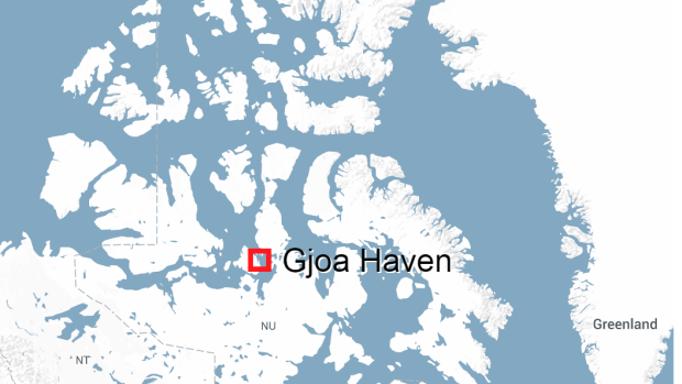 An injured man was found on the front step of a home Thursday afternoon, in Gjoa Haven, Nunavut. He later died.