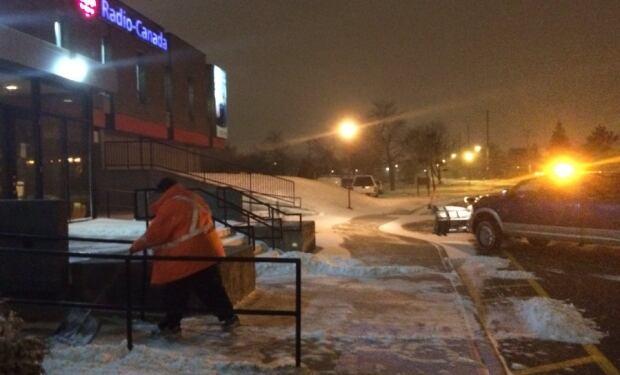 Snowclearing at CBC St. John's
