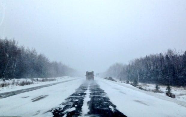 Winter storm TCH near Grand Falls Windsor