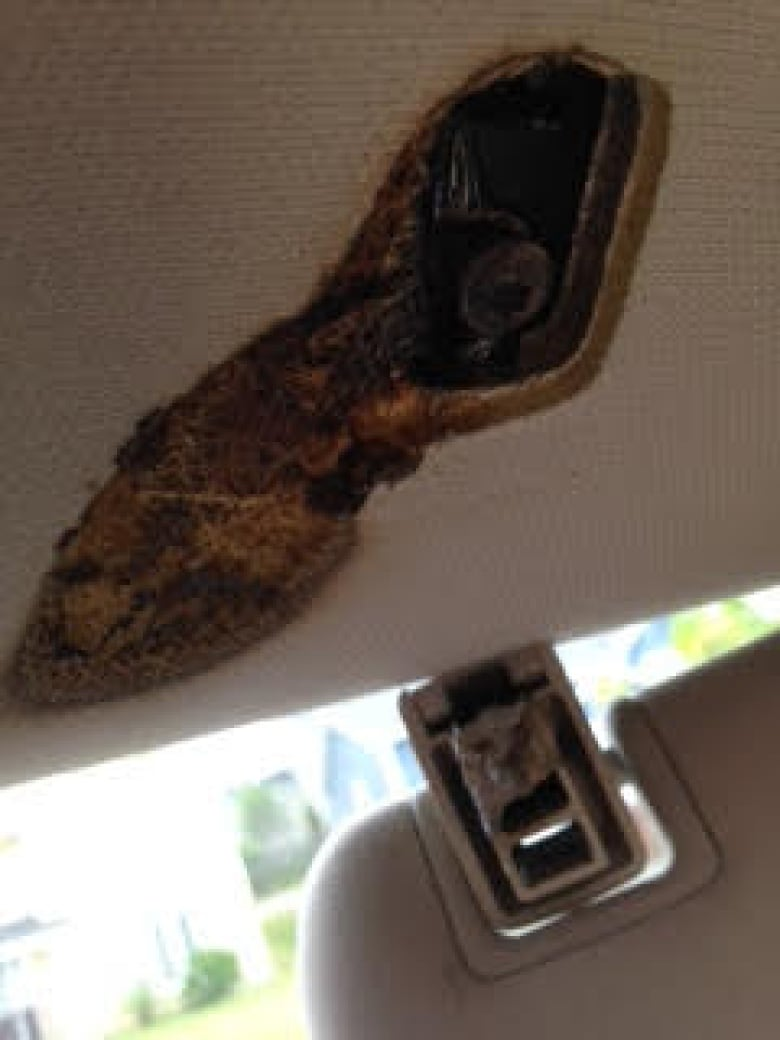 Recall Repair Leads To Conflict Over Cause Of Fire In Dodge Durango Wiring Harness Issues Janet And Colin Olmstead Say A Inside Their 2011 Caused This Damage Last Summer Courtesy