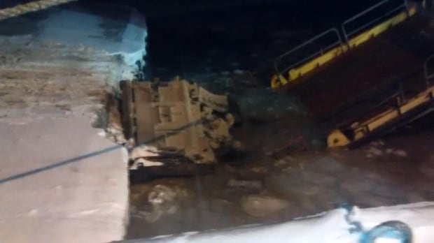Dean Snow dump truck accident Change Islands ferry