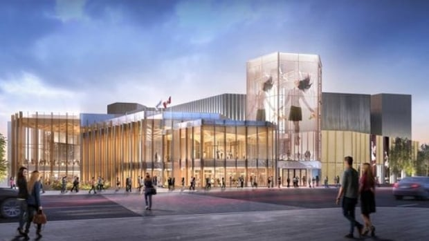 A rendering of the new Elgin Street entrance to the National Arts Centre by Diamond Schmitt Architects. The bulk of the renovation is expected to be finished in time for Canada's 150th birthday.