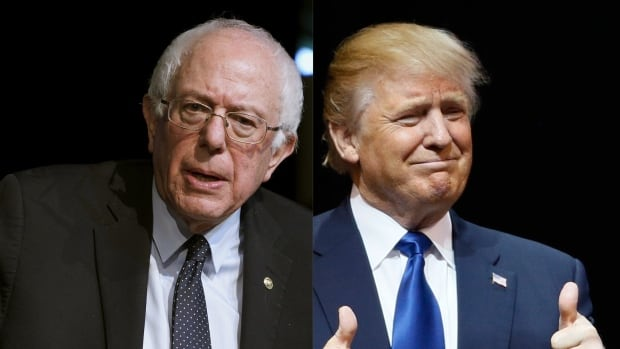 U.S. Democratic presidential candidate Bernie Sanders and Republican front-runner Donald Trump might be on opposite sides of the political spectrum, but they both represent the kind of polarized anti-establishment factions that tend to take hold in times of uncertainty and upheaval, writes the CBC's Don Pittis.