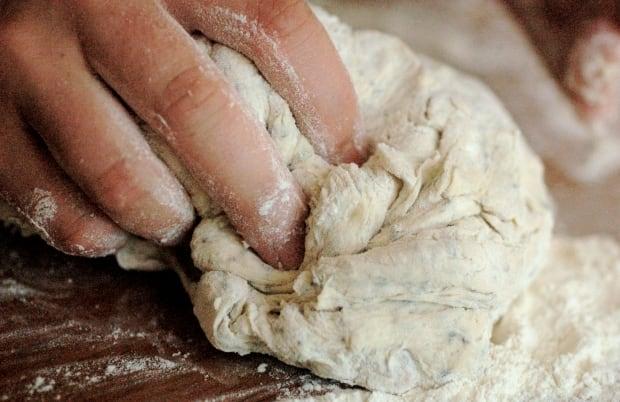 Breadmaking focaccia