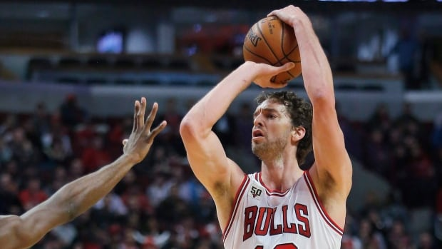 Chicago Bulls centre Pau Gasol (16) will make his sixth NBA All-Star Game appearance in place of his injured teammate Jimmy Butler.