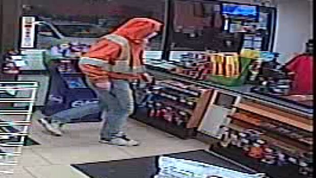 RCMP released this photo of the suspect captured by a store security camera.