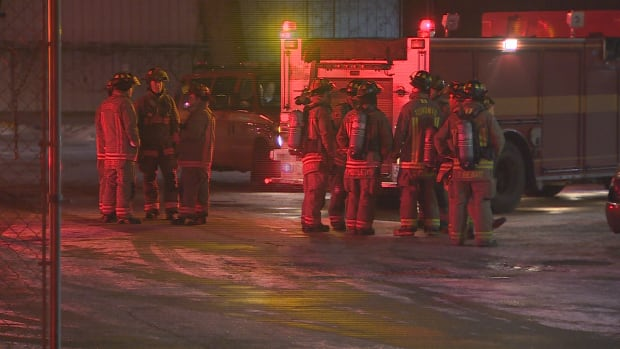 Firefighters responded to a call around 12:30 a.m. on Wednesday after a man received serious burns as a result of an industrial accident.