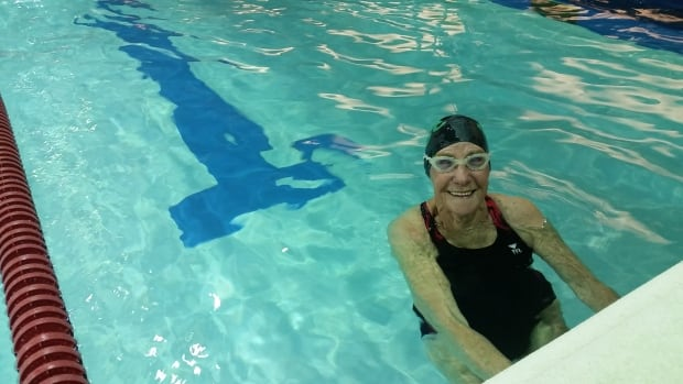 Mary Brown, 89, is the team's oldest swimmer, and the friend who encouraged Edie Hiltz to start swimming in the first place.