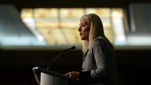 Environment Minister Catherine McKenna announced new funding Wednesday for environmental projects, with municipal grants and loans to 20 cities and towns across the country.