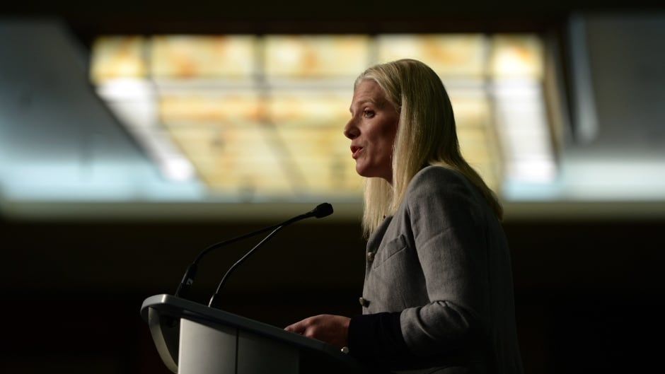 Catherine McKenna, Minister of Environment and Climate Change delivers a speech to the Federation of Canadian Municipalities' Sustainable Communities Conference in Ottawa on Wednesday, Feb. 10, 2016. THE CANADIAN PRESS/Sean Kilpatrick