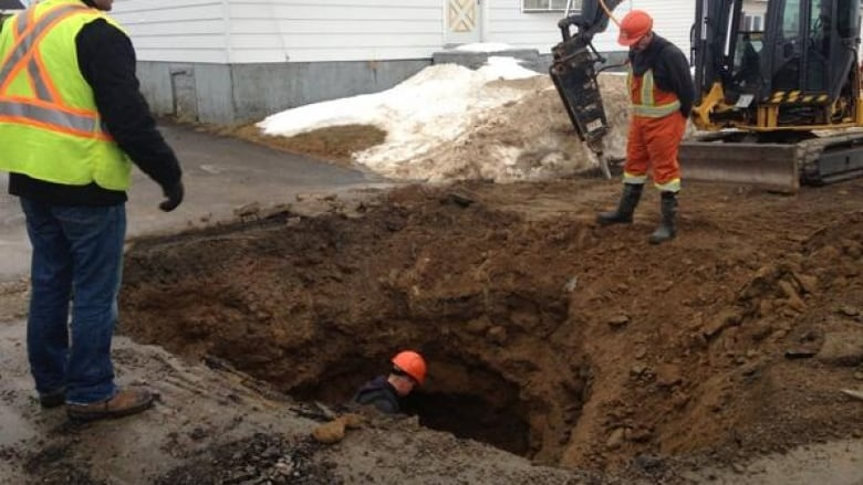 Water line break, Grand Falls-Windsor