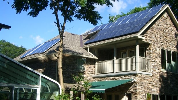 The solar panels on Mike Brigham's roof in Toronto allow him to sell power back to the grid. He says solar provides power when Ontario most needs it — when the sun is hot and air-conditioners are pushing up power demands.