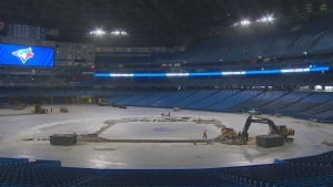 Rogers Centre construction dirt infield