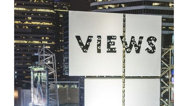 Drake unveiled several advertisements for Views from the 6 in Toronto ahead of NBA All-Star weekend.