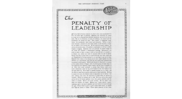 Penalty of Leadership