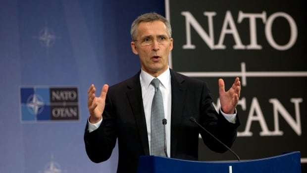 NATO Secretary General Jens Stoltenberg has praised Canada for its defence spending, even though it will again fall far short of NATO's target of two per cent of GDP.