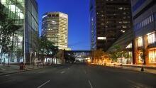 Empty night downtown Calgary
