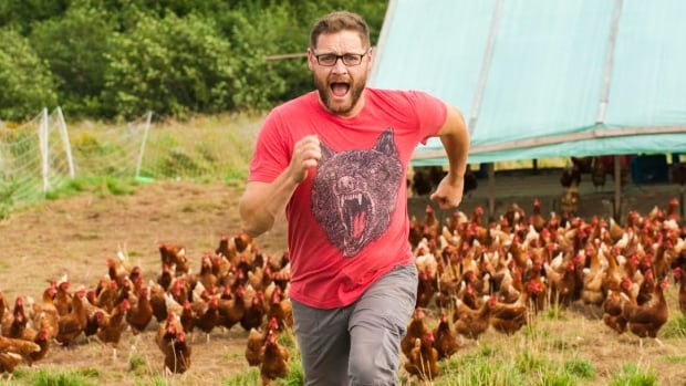 The star of the French-language reality show Agrofolie, Patrick Thibeault of Moncton, says after two seasons of farming in front of the camera he's not sure he wants to do it full-time.