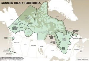 Modern treaty territories