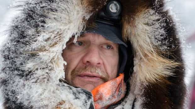 Yukon Quest musher Allen Moore is on the final leg for a morning arrival at the finish line in Whitehorse.