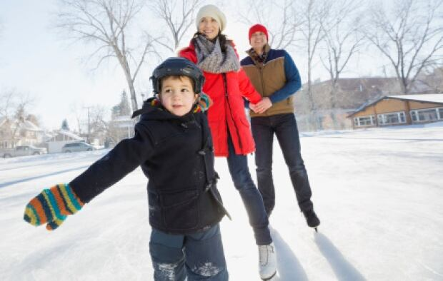 Family skating fun