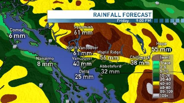 Vancouver rainfall Feb 11, 2015