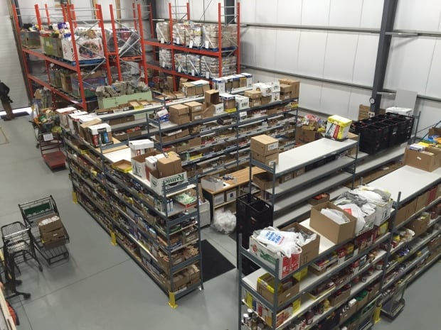 Airdrie Food Bank shelves