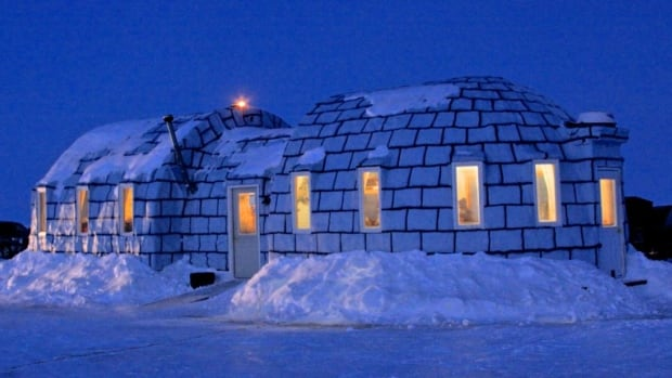 The Igloo Bar, on the Minnesota side of Lake of the woods, serves both Canadian and U.S. based anglers, snowmobilers.