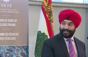 Navdeep Bains announcing $14M for Natural Products Canada