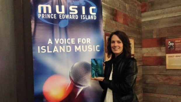 Melanie Taylor of Harmony House theatre won the 2015 Music PEI award for Venue of the Year.