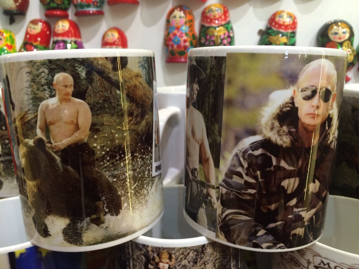 Coffee mugs with images of Vladimir Putin showing the Russian president's  soft side as well as his manliness can be bought all over Moscow in various  ...