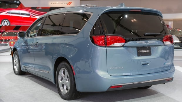 The 2017 Pacifica Hybrid can travel 50 kilometres on electric power alone.