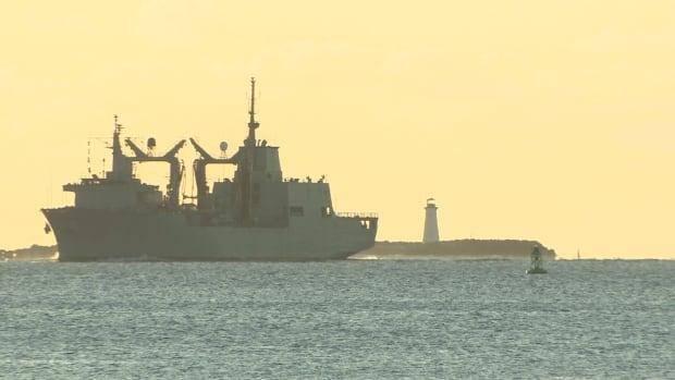 The Spanish supply ship SPS Patino sailed into Halifax on Friday.