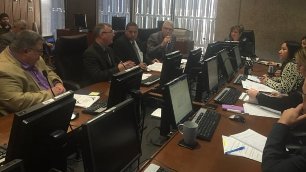The City of Winnipeg's infrastructure renewal and public works committee met with city officials on Friday afternoon to discuss the Waverley Street underpass project.
